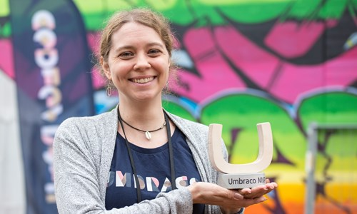 Heather with Umbraco MVP Award